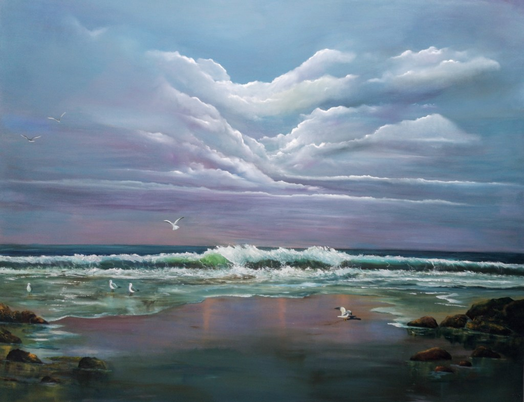 Atlantic Call 150 x 120 cms large oil painting on canvas