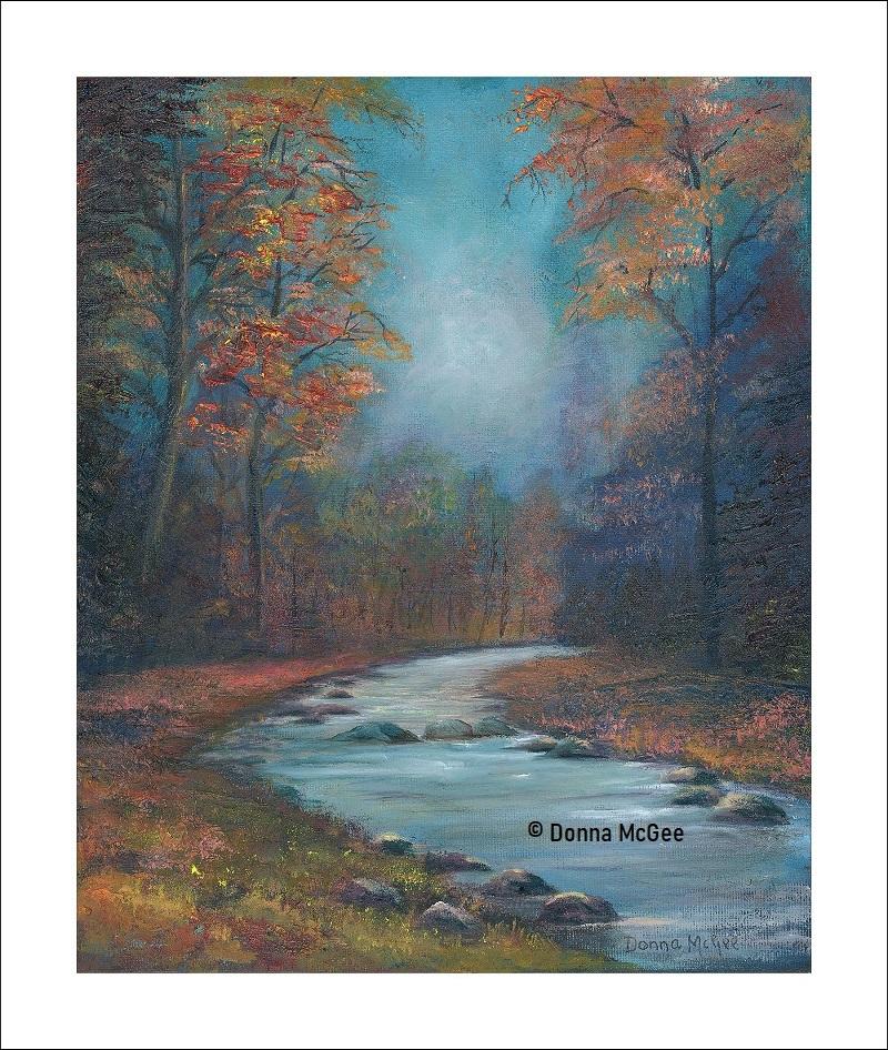 Autumn Glow Giclee Print 30 x 25 cms