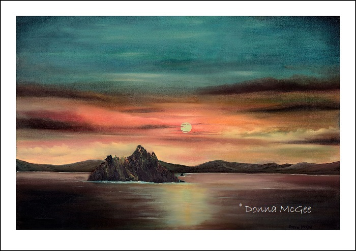 Evening at Skellig Michael giclee print