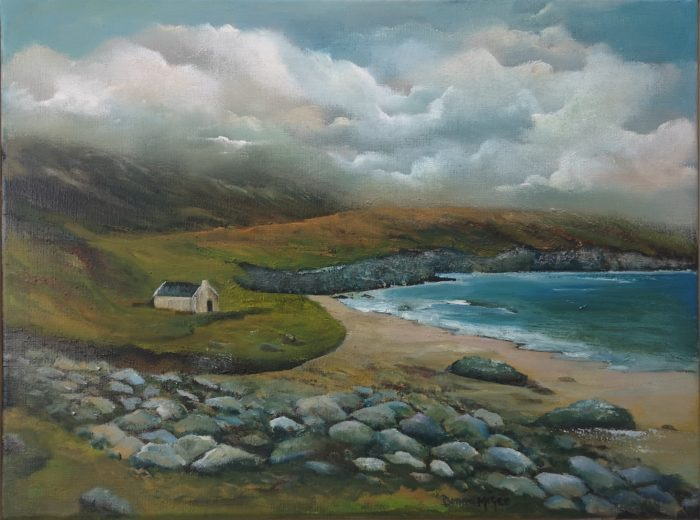 Keem Bay Achill oil painting on canvas