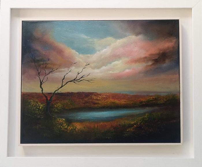 Old-Bog-Road-14x18-Oil-on-Canvas.jpg landscape oil painting