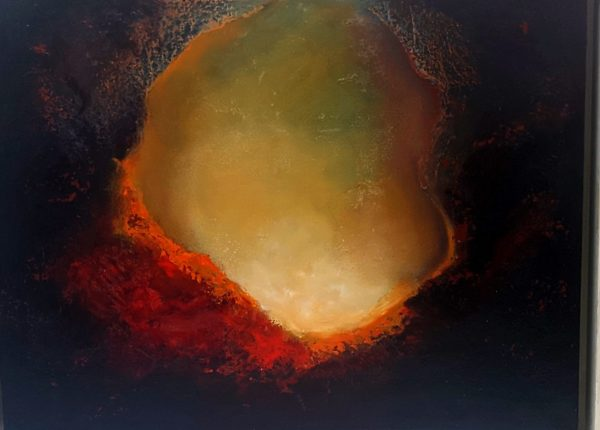 SOLD -rock pool abstract  oil painting on canvas