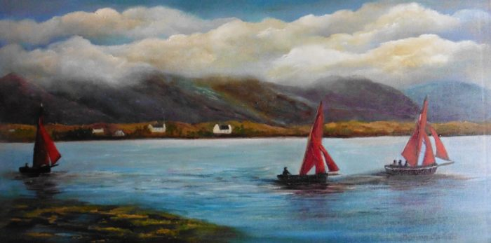 The-Trio-10-x-20-inches-oil-on-board available at The Thatch Restaurant in Ouchterard Galway