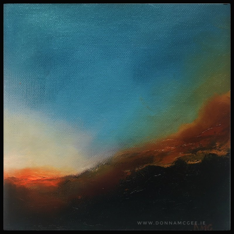 Dusk Descends - Transcendence Series abstract oil painting