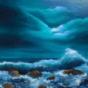 light of the moon Irish Art,oil painting 20 x 30 inches