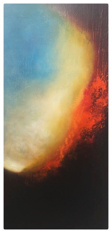 Precipice 24 x 12 oil on canvas abstract painting