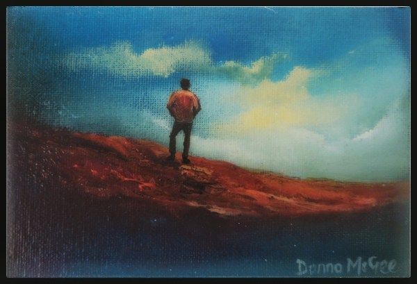 surveying the kingdom oil painting