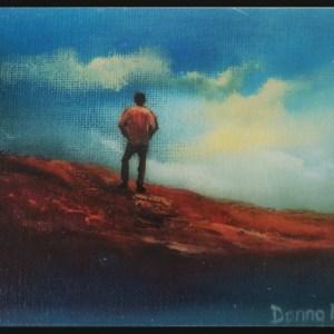 surveying the kingdom irish landscape 5x5 inchoil painting