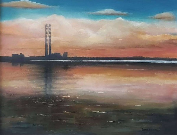 Poolbeg generating station front view