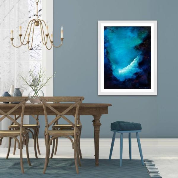 Bluesky II irish abstract oil painting