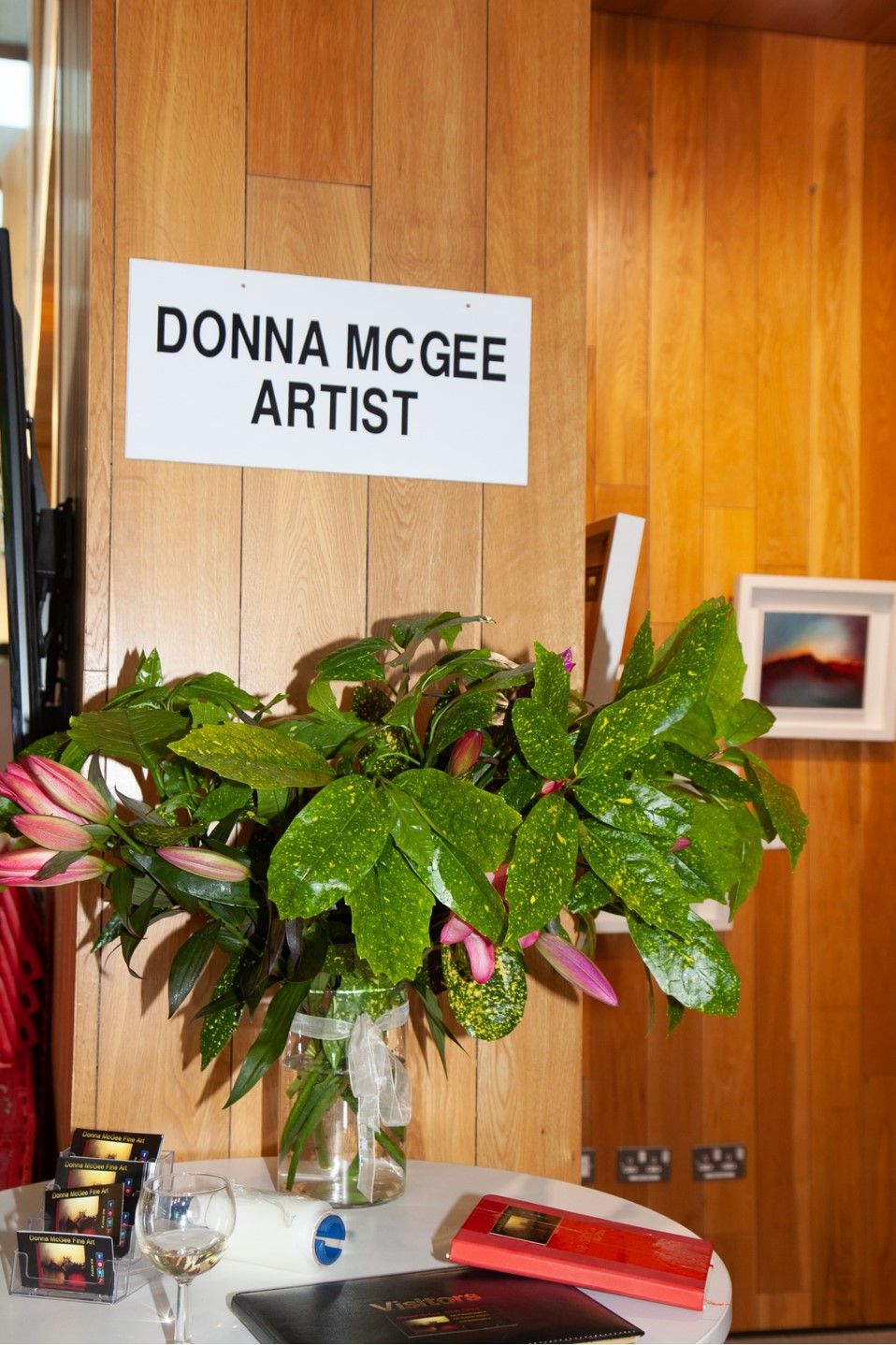 donna mcgee artist at Shards of Light exhibition