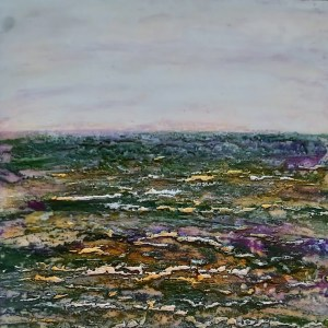 burren layers encaustic wax painting Donna McGee