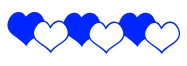 ap hearts blue divider