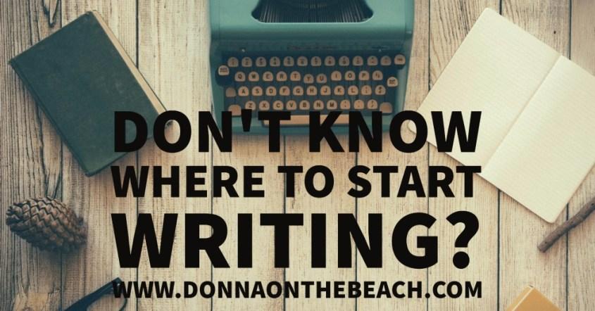 where to start writing