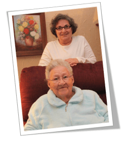Family Caregiver Donna and her 98 year old mother