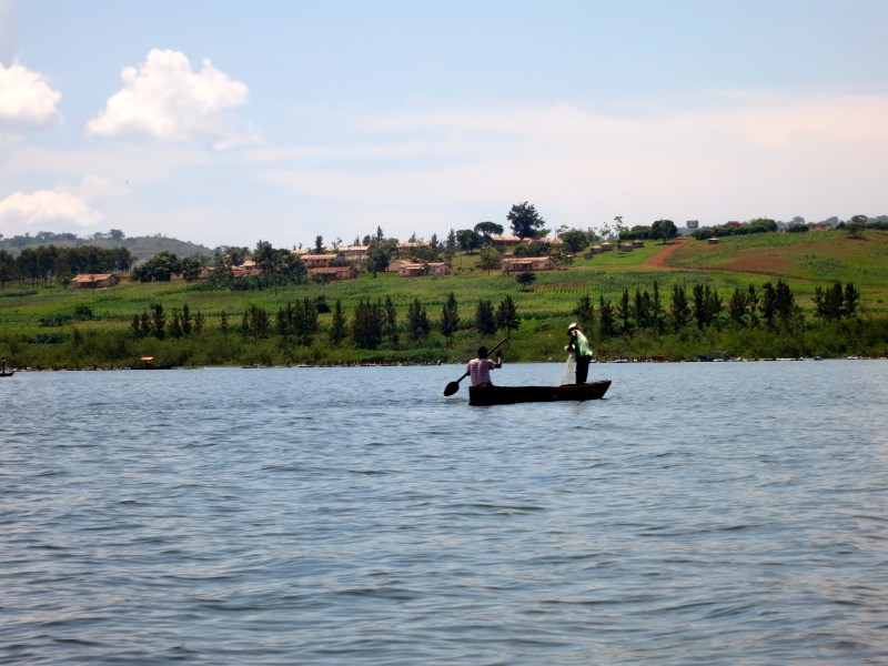 Fishermen on Lake Victoria