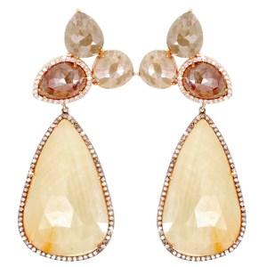 RAW YELLOW DIAMOND EARRINGS