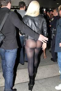Lady Gaga in Collant Neri