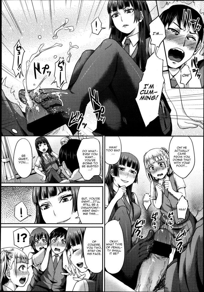 ragazze in collant ricattano compagno di classe