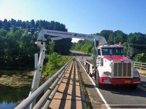 Under Bridge Inspection Unit boom arm under bridge