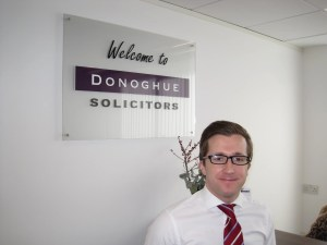Picture of Daniel Fitzsimmons, Kevin Donoghue, and Hannah Bickley, of Donoghue Solicitors