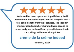 5 star review for actions against the police solicitors Donoghue Solicitors from Mr S