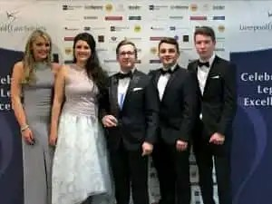 Donoghue Solicitors win the Niche Law Firm Award at the Liverpool Law Society Legal Awards.