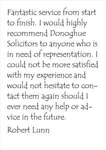 About Us- Robert Lunn testimonial