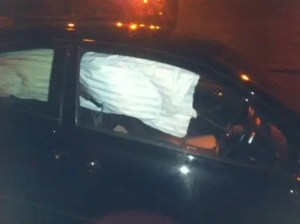 After a road accident airbags can be deployed.