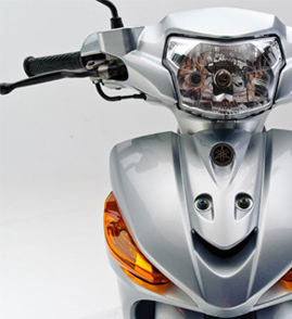 Visão Frontal da Moto Crypton