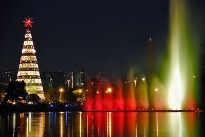 Arvore de Natal no Parque Ibirapuera