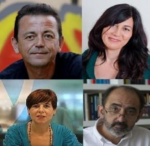 Miren Gutiérrez, Lourdes Pérez, Víctor Sampedro y Daniel Innerarity