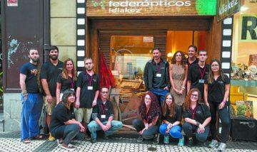 San Sebastian Shops presenta su campaña para el Festival de Cine junto al alcalde 8/09/2016 - foto Jose Ignacio Unanue