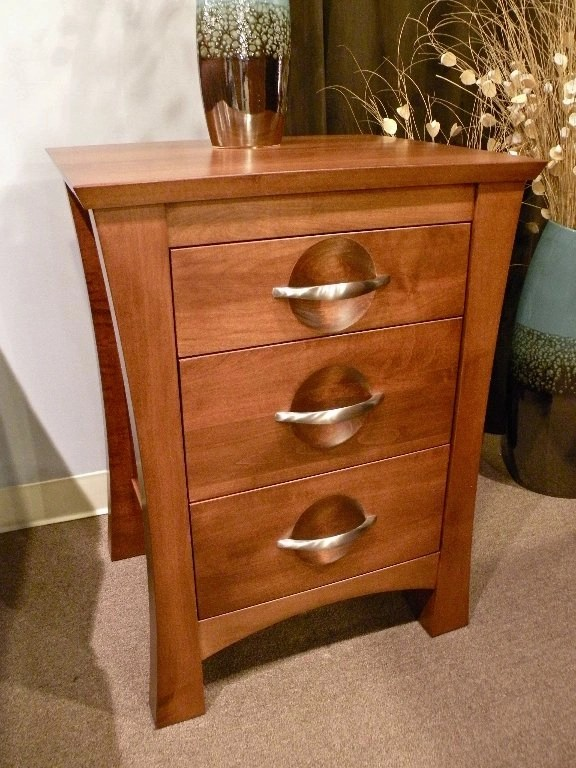 Providence 3-Drawer Nightstand Wood Species Shown: Brown Maple Fully Customizable. Please contact us for pricing details.