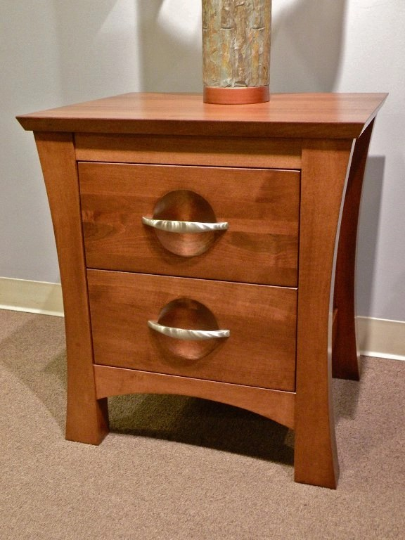 Providence 2-Drawer Nightstand Wood Species Shown: Brown Maple Fully Customizable. Please contact us for pricing details.