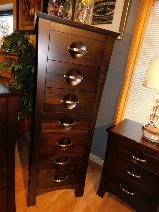 """Providence 7-Drawer Lingerie Chest Wood Species Shown: Brown Maple Dimensions: 23""""W x 21""""D x 61""""H Price As Shown*: $1,672 Fully Customizable. *Price of piece not inclusive of current sales. Please see our Pricing page for more details."""