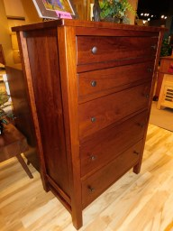 """Cabin Creek 5-Drawer Chest of Drawers with Distressing Wood Species Shown: Rustic Cherry Dimensions: 37.25""""W x 55""""H x 21.5""""D Fully Customizable. Please contact us for pricing details."""