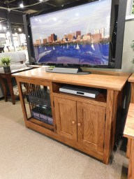 "48"" Mission TV Console Wood Species Shown: Oak Dimensions: 48""W x 20""D x 30""H Price As Shown*: $1,160 Fully Customizable. *Price of piece not inclusive of current sales. Please see our Pricing page for more details."