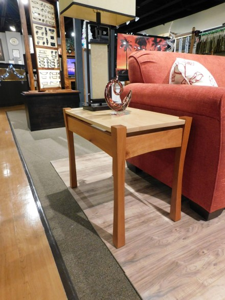"""Providence Small End Table Wood Species Shown: Cherry / Maple Dimensions: 16""""W x 27""""D x 22.25""""H Fully Customizable. Please contact us for pricing details."""
