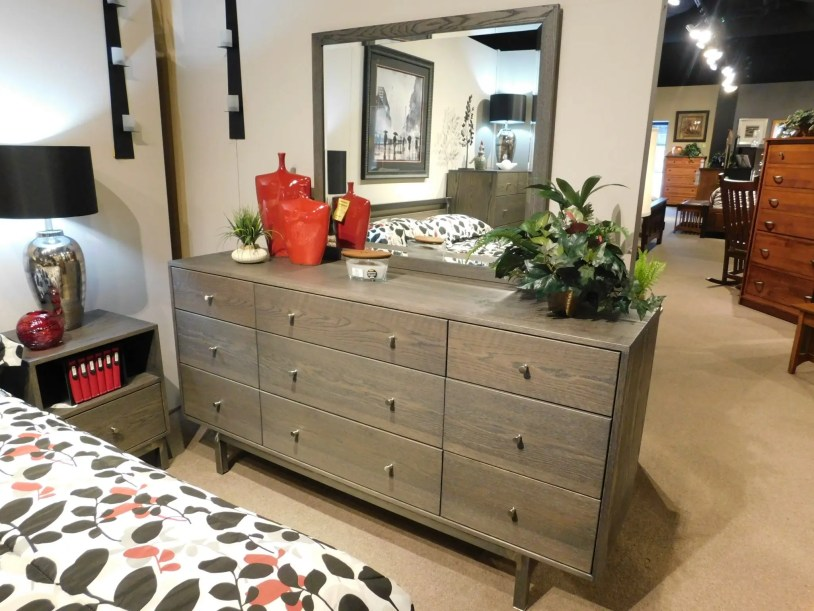 "Sullivan Cove 72"" Dresser and Mirror Wood Species Shown: Wire Brushed Oak Dimensions: 72""W x 36""H x 19""D and 40""W x 36""H Price As Shown*: $2,815 and $418 Fully Customizable. *Price of piece not inclusive of current sales. Please see our Pricing page for more details."