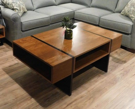 "Sonoma Coffee Table Wood Species Shown: Brown Maple / Sap Cherry Dimensions: 28""W x 48""L x 18""H Price As Shown*: $825 Fully Customizable. *Price of piece not inclusive of current sales. Please see our Pricing page for more details."