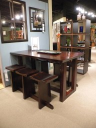 Central Park Bistro Table & Stockholm Stools Bistro Height Fully Customizable. Please contact us for pricing details.