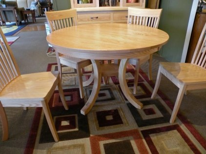 """Carlisle 48"""" Round Table Wood Species Shown: Oak Fully Customizable. Please contact us for pricing details."""