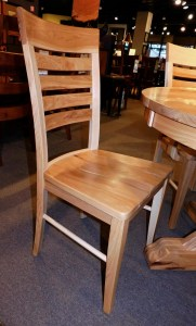 Metro Ladder Side Chair with Wood Seat Wood Species Shown: Rustic Hickory Fully Customizable. Please contact us for pricing details.