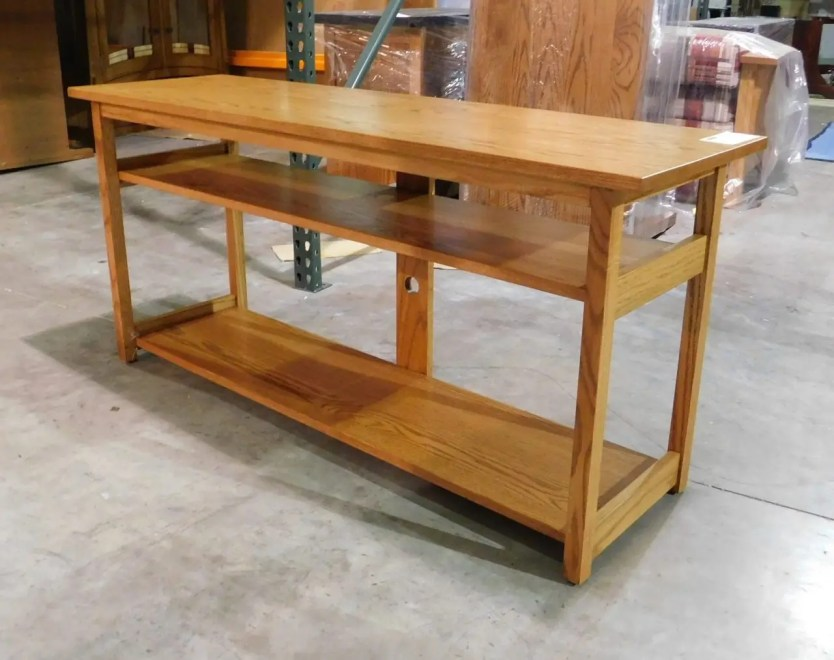 Customer Request Console Table Wood Species Shown: Oak Fully Customizable. Please contact us for pricing details.
