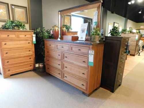 Farmhouse Heritage Tall Dresser and Mirror