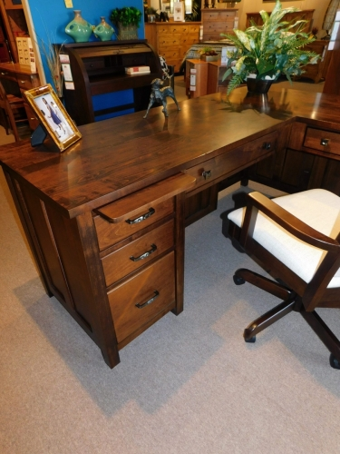 Coventry Mission L-Desk with Drawers (No CPU Tower)