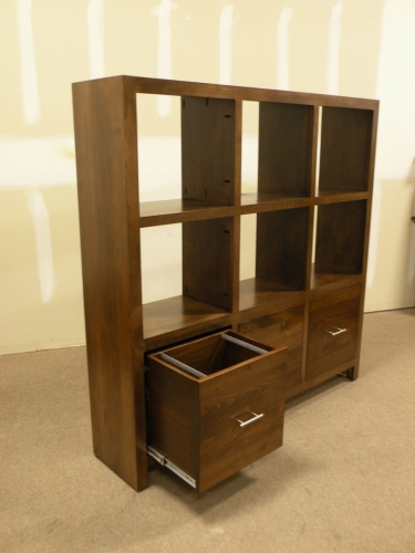 Cube Bookcase with Drawers