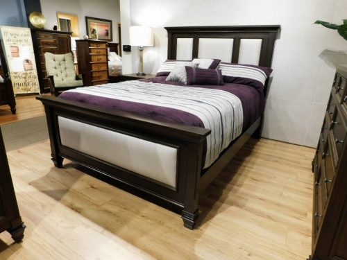 Legacy Village Bed with Upholstered Panels