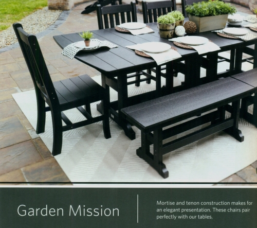 Garden Mission Adirondack Dining Set with Table, Chairs and Benches